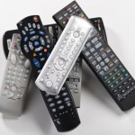 Pile of tv remote controls